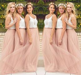 Wholesale royal blue maxi - Hot Sale Cheap Underskirt Bridesmaid Dresses 2018 Tulle Skirt Blush Prom Dresses Bridesmaid Maxi Skirt Evening Party Gowns
