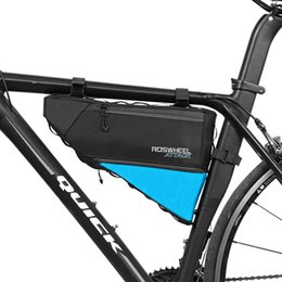 Wholesale Bike Bicycle Cycling Front Bag - ROSWHEEL Bicycle Bag Water Bike Frame Corner Tube Triangle Pouch Bycicle Cycling Bags Accessories 4L Volume Extendable