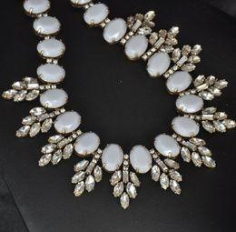 new design women gorgeous bib statement heavy rainbow crystal bubble necklace