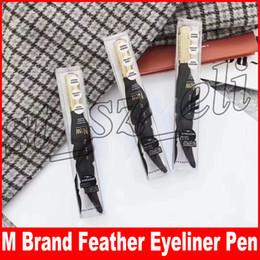 Eye-liner orange en Ligne-M Marque Plume Liquide Étanche Eyeliner Crayon Black Eye Liner Pen Maquillage Durable Maquiagem Cosmétique