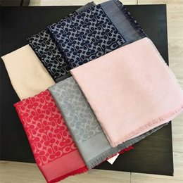 Wholesale cashmere large scarf - 2018 new brand designers wear scarves 140*140cm winter autumn, pure cashmere and gold and silver thread, large shawl retail wholesale.
