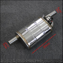 Wholesale Remote Control Exhaust - Universal Car modification 2 inch 51mm valve muffler remote control valve exhaust pipe exhaust pipe muffler pattern M drum