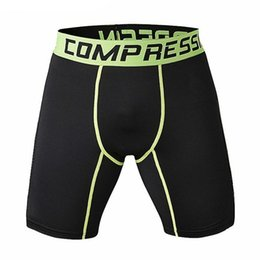 men fitness shorts Coupons - Wholesale- New Running Sport Mens Basketball Tight Compression Shorts Gym Fitness Clothing Training Wicking Short Pants Homme Men
