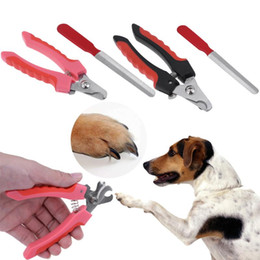 Wholesale Scissors Claws - 2pcs Professional Stainless Steel Dog Pet Grooming Nail Scissors Claw Nail Clippers Animal Scissor Nail Cutter Tool Dog Supplies