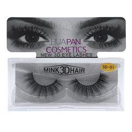 Wholesale eyelashes extensions for sale - Hot Sale 3D Mink lashes Thick real mink false eyelashes natural for Beauty Makeup Extension fake Eyelashes false lashes