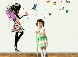 Wholesale prince wall - Free shippin Colourful butterfly prince wall stickers DIY decors For Home Fridage Decoration art diy decoration sticker baby toys