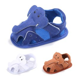 elephant shoes Promo Codes - Cartoon Elephant Shoes Baby Boys Girls Summer Lovely Shoes Soft Leather First Walker Skid-Proof Beauty Cute Kids Prewalker
