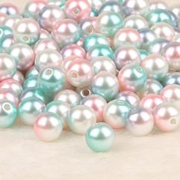 Colliers bijoux abs en Ligne-50-500pcs Dia 4,6,8,10mm ABS imitation perles perles rondes en plastique ABS lâche perles pour collier Bracelet bricolage fabrication de bijoux