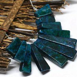 Klasik tasarım moda mavi yeşil chrysocolla taş boncuk 15-40mm 11 parça sopa kolye seti kadınlar takı yapımı B1556 nereden
