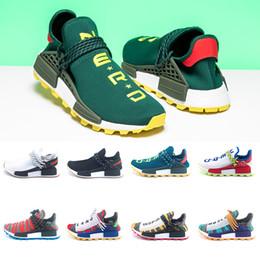 sports shoes 0a2ec 73ef7 Adidas NMD Human Race Boost Creme Nerd x Menschlichen Rennen Trail Solar  Afro Pack Laufschuhe Männer Frauen Pharrell Williams HU SOLARHU Designer  Trainer ...