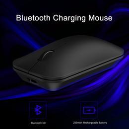 ratón lindo para la computadora Rebajas Ratón inalámbrico Bluetooth Seenda Marca recargable Bluetooth 3.0 para la tableta del ratón del ordenador portátil del teléfono celular androide de Windows silencioso ratones