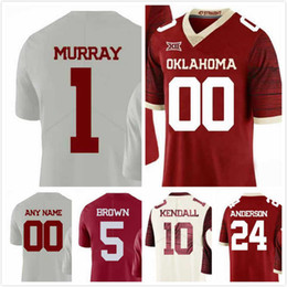 10d8b8fdd Lee Morris Jersey 84 Reggie Turner 28 Kyler Murray 1 Rodney Anderson 24 Marquise  Brown 5 Mens Oklahoma Sooners Jerseys Stitched 2018 S-3XL