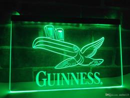 Wholesale guinness pub sign - LA012g- Guinness Toucan Beer Bar Pub Club LED Neon Light Sign