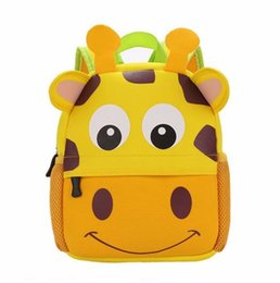 Wholesale Animal Shaped Straws - 3D Cute Animal Design Backpack Kids School Bags For Girls Boys Cartoon Shaped Children Backpacks