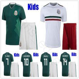 9cb2852c6de16 kits jersey méxico Rebajas 2018 Niños Mexico Soccer Jerseys G.DOS SANTOS  CHICHARITO GUARDADO AGUILAR