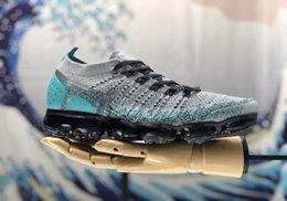 Wholesale high walk - with box high quality new 2018 VaporMax 2.0 Men and Women Running Shoes Sneakers Sports Shoes Black White Hiking Walking Shoes