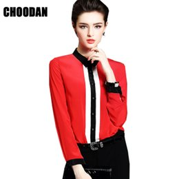 Wholesale Ladies Office Shirts Blouses - Women Tops And Blouse New Arrival Spring 2018 European Chiffon Blouse Shirt Black Long Sleeves Ladies Top Office Female Clothing