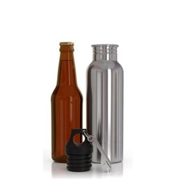 Wholesale Pc Bottles - 1 - Pcs Beer Bottle Armour Koozie Keeper Stainless Steel keeper Armour Bottle Koozie Insulator with Bottle Opener