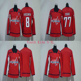 Wholesale Cheap Hockey Jerseys Washington - Youth Kids 8 Alex Ovechkin Jersey 2017-2018 Washington Capitals 77 T.J. Oshie Ice Hockey Jerseys Cheap