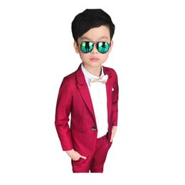 Wholesale Formal Styles Suits Blazers - causal boy tops pants set gentleman style solid clothes set for 3-10yrs boys children kids outerwear blazer suit clothes set hot