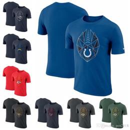Équipement pur en Ligne-Couleur pure Los Angeles Rams Chargers de Los Angeles Kansas City Chiefs Jacksonville Jaguars Indianapolis Colt Fan Gear Icône Performance T-shirt