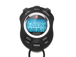 Temporizador de funcionamiento online-Zhuiri ps-9100 luminosa 100 cronómetro electrónico árbitro deportivo temporizador electrónico