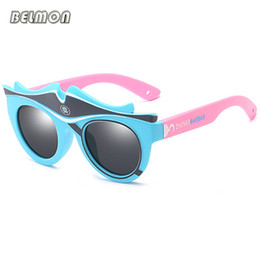 Kinder cartoon gläser rahmen online-Mode Kinder Polarisierte Sonnenbrille Marke Cartoon Sonnenbrille Jungen Mädchen Geeignet für Kinder Im Alter von 3-10 Silikon Rahmen RS590