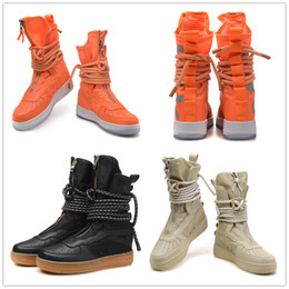 Wholesale Rubber Field - New Special Field SF High Running Shoes Men Sport Sneakers Women Genuine Leather High-top Boots Outdoor Casual Skateboard Shoes