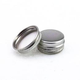 Canada 5g mini jar en aluminium crème échantillon étain 5cc cosmétique baume à lèvres récipient petit pot en métal, bouteilles en aluminium en gros cheap aluminum sample bottles wholesale Offre