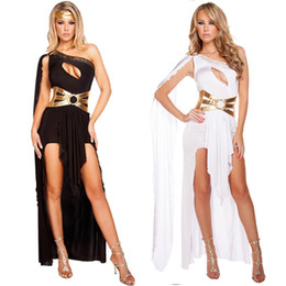 roma black Desconto Sexy Deusa Grega Vestido Preto Branco Roma Princesa Feminina Guerreiro Hen Partido Fancy Dress