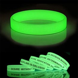 Wholesale Glow Dark Silicone Bracelets - 500pcs lot customized glow in the dark silicone bracelets  wristband for kids. adult promotional gift,sports band OTH648