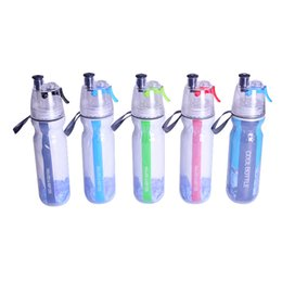 Wholesale Decks Bicycles - 500ml Double-deck Sports Drink Bottles With Lid Spray Water Bottle Cold Insulation Outdoor Bike Bicycle Cycling Hiking Bottle