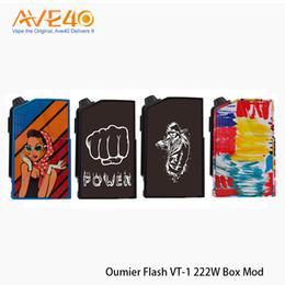 Baterias leves on-line-Oumier Flash VT-1 222 W Caixa Mod Com Dupla 18650 Baterias Lateral Modificável Do Painel Leve Mod 100% Autêntico