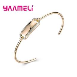 лучшие браслеты для женщин Скидка YAAMELI лучшие продажи новая мода дизайн женщины романтический стерлингового серебра 925 Малый Кристалл проложили браслеты браслеты большая продажа
