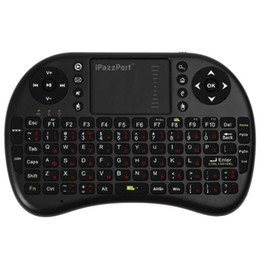 ipazzport мини-клавиатура с беспроводной клавиатурой Скидка Ipazzport M2S English Russian Mini Wireless Keyboard 2.4GHz Flying Air Mouse Remote Control Touchpad For Android TV Box PC
