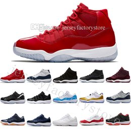 Wholesale Gold Moon - 11 Men basketball shoes Gym Red GS Heiress Black Midnight Navy WIN LIKE 82 96 Bred 72-10 Concord UNC Space 45 Barons Moon Sports Sneakers