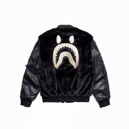 Abrigo de felpa negro online-Hombre negro de impresión de algodón de felpa con capucha camuflaje Lapel Cardigan movimiento Ocio Pullover moda Trend Sweater Abrigo suelto chaqueta