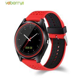 2019 часы фотокамеры V9 Smart Watch With Camera SIM TF Smartwatch Pedometer Health Sport MP3 Clock Hours Men Women Watches For Android IOS скидка часы фотокамеры