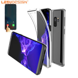 Wholesale Iphone Clear Case Full - 360 Full Body Soft TPU Case Ultra-Thin Clear Gel Silicon Front Back Cover for s9 s8 plus a8 2018 s7 edge s6 j5 a5 2017 iphone x 7 8 6 plus