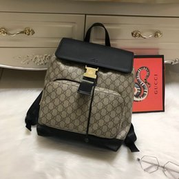 Wholesale Leopard Travel Bags - 2018 Luxury designer New Guccx printing PU students Backpack girl younger teenager Laptop Waterproof Travel computer school Bag 180126003