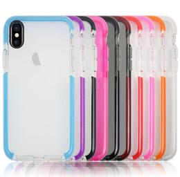 Wholesale Iphone Black Scratch - Dual Colors Soft TPU Anti-Scratch Phone Shell Case Back Cover for Iphone 6 6plus 7 7plus 8 8plus x