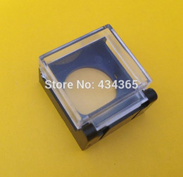 Wholesale 16mm Switch - 10pcs plastic push button with clear switch cover box 16mm mouting hole Square type