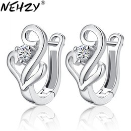 Wholesale hong kong wholesales - NEHZY Silver Hong Kong high-end brand earrings female models fashion cute vintage jewelry manufacturers, wholesale jewelry