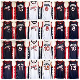 Wholesale Basketball Barkley - 1996 USA Dream Three Jerseys Basketball 4 Charles Barkley 6 Penny Hardaway 15 Hakeem Olajuwon Jersey College 8 Scottie Pippen 11 Karl Malone
