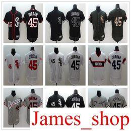 0e45b1f826d68 2019 tienda en línea de los hombres al por mayor Co White Sox 45 Michael  Jor camisetas de béisbol blanco negro gris bordado logotipos Jersey acepta  mezcla