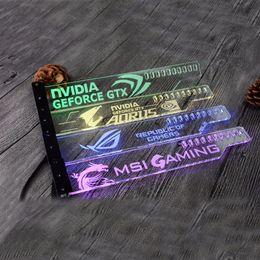 Карты gpu онлайн-Использование акрилового кронштейна для карты Brace GPU размером 280 * 45 * 6 мм для использования с видеокартой Fix 5050 RGB Light connect AURA GTX1080 RX580