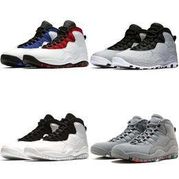 competitive price 9d91a 37f8d Nike Air Jordan Retro Designer 10 10s Männer Basketball Schuhe Zement  Westbrook PE Schwarz Weiß Ich bin zurück powder blue Trainer Sport  Turnschuhe Größe ...