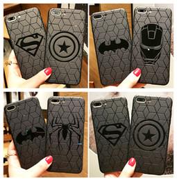 Étui iphone protecteur en Ligne-Super héros ultra mince souple en TPU Superman Iron Man Spiderman Shield Cas de téléphone Couverture pour iphone X 5 SE 6s 7 8 Plus