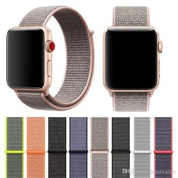 Wholesale Loop Bracelets - Woven Nylon Sport Loop Bracelet Watch Strap Replacement Watch Band For Apple Watch Band Series 1  2   3