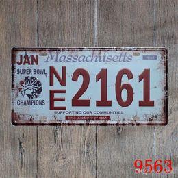 Disegni della pittura della lettera online-Vintage Number Letter Design Ferro dipinto speciale semplice stile Tin Poster Creative Home Living Room Lattine Decorare 15 * 30cm dd